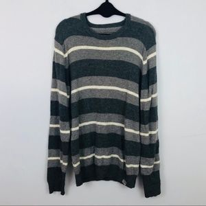 Aeropostale | Men's Navy & Gray Striped Sweater